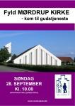 Plakat. Fyld kirken. 2014-Moerdrup